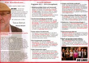 10 GUTE GRÜNDE - Proramm 2011 - 2016 (Kurzgefasst)