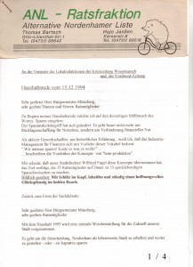 ANL - Haushaltsrede für 1995 - vom 15. Dezember 1994 - Seite 1 von 4 Seiten