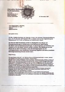 ANL-Ratsfraktion - Ina Korter - Steuer auf Einwegverpackungen - 30. November 1997 - Seite 1 von 2 Seiten