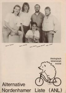 Alternative Nordenhamer Liste - ANL - Kommunalwahl 1991 - Seite 1 von 4 Seiten
