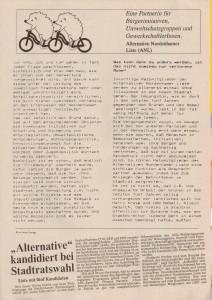 Alternative Nordenhamer Liste - ANL - Kommunalwahl 1991 - Seite 3 von 4 Seiten