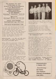 Alternative Nordenhamer Liste - ANL - Kommunalwahl 1991 - Seite 4 von 4 Seiten
