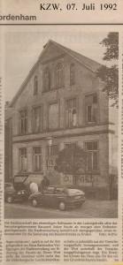 Baudenkmal vor Rettung - Kreiszeitung Wesermarsch vom 07. Juli 1992 - Seite 2 von 2 Seiten