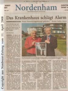 Das Krankenhaus schlägt  Alarm - Nordwest-Zeitung vom 11. April 2008
