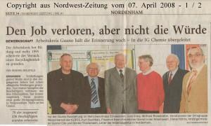 Den Job verloren, aber nicht die Würde - Nordwest-Zeitung vom 07. April 2008 - Seite 1 von 2 Seiten
