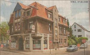 Gaststätte Zur Presse - Nordwest-Zeitung vom 07. Juni 2008