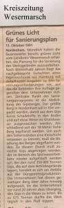 Guano-Gipsberg - Grünes Licht für Sanierungsplan - Kreiszeitung Wesermarsch den 11. Oktober 1991