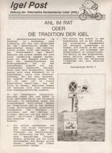 Igel Post - 12-91 - Alternative Nordenhamer Liste - ANL - Seite 1 von 4 Seiten