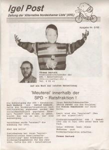 Igelpost - Ausgabe Nr. 2-92 - Alternative Nordenhamer Liste -ANL- Seite 1 von 6 Seiten