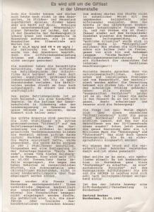 Igelpost - Ausgabe Nr. 2-92 - Giftlast  in der Ulmstraße - Alternative Nordenhamer Liste -ANL- Seite 3 von 6 Seiten