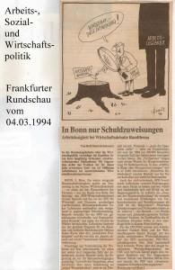 In Bonn nur Schuldzuweisungen - Frankfurter Rundschau vom 04. März 1994