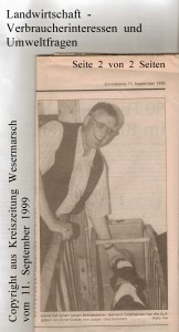 In Infeld geht es um  mehr als die Landwirtschaft - Kreiszeitung Wesermarsch vom  11. September 1999 - Seite 2 von 2 Seiten
