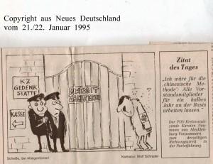 KZ-Gedenkstätte - Neues Deutschland vom 21.-22. Januar 1995