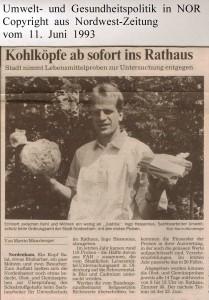 Kohlköpfe ab sofort ins Rathaus - Nordwest-Zeitung vom 11. Juni 1993