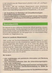 Kreistags-Wahlprogramm 1996 - Grün Alternatives Bündnis - GAB - Seite 3  von 8 Seiten