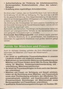 Kreistags-Wahlprogramm 1996 - Grün Alternatives Bündnis - GAB - Seite 4  von 8 Seiten