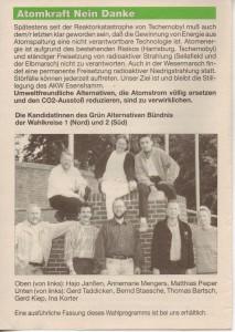 Kreistags-Wahlprogramm 1996 - Grün Alternatives Bündnis - GAB - Seite 8  von 8 Seiten