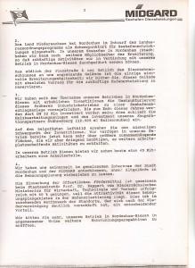 MIDGARD Deutsche Seeverkehrs-AG - Mitteilungsschreiben von Helmut Werner an den Stadtdirektor Wilfried Fugel - Bebauungsplan 37 - Nordenham-Blexen vom 22. September 1992 - Seite 3 von 4 Seiten