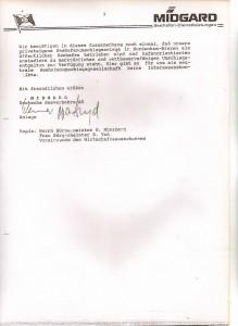 MIDGARD Deutsche Seeverkehrs-AG - Mitteilungsschreiben von Helmut Werner an den Stadtdirektor Wilfried Fugel - Bebauungsplan 37 - Nordenham-Blexen vom 22. September 1992 - Seite 4 von 4 Seiten