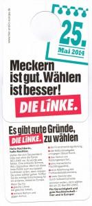 Meckern ist gut. Wählen ist besser!  - DIE LINKE. - Europawahl 25. Mai 2014