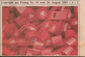 Merkwürdig leise - Gewerkschaftsspitzen - Linkspartei  - Freitag Nr. 34 vom 26. August 2005 - Seite 1 von 2 Seiten