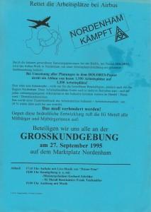 Nordenham kämpft - Großkundgebung am 27. September 1995 auf dem Marktplatz in Nordenham1
