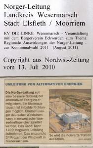Norger-Leitung - Bauprojekt auf zwölf Hektar - Nordwest-Zeitung vom 13. Juli 2010 - Seite 3  von 4 Seiten