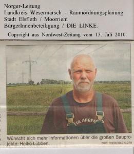 Norger-Leitung - Bauprojekt auf zwölf Hektar - Nordwest-Zeitung vom 13. Juli 2010 - Seite 4  von 4 Seiten