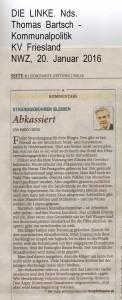 OVG - Strandgebühr bleibt   -  Nordwest-Zeitung vom 20. Januar 2016 - Seite 2