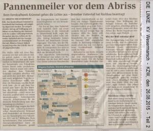 Pannenmeiler vor dem Abriss - Kreiszeitung Wesermarsch vom 26. August 2015 - Seite 2 von 2 Seiten