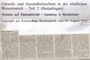 Radioaktivität aus dem Schornstein - Kreiszeitung Wesermarsch vom 23. August 2010 - Teil 2