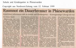 Raumnot ein Dauerbrenner in Phiesewarden - Nordwest-Zeitung vom 12. Februar 19992