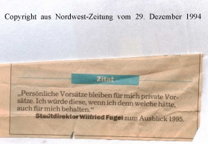 Sorgen um die  Arbeitsplätze - Nordwest-Zeitung vom 29. Dezember 1994 - Seite 2 von 2 Seiten