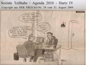 Soziale Teilhabe - Agenda 2010 - Hartz IV - Der Freitag - Nr. 34 vom 13.  August 2014