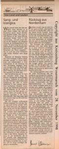 Von Land und Leuten - Margitta Terborg - Kreiszeitung Wesermarsch vom 28. November 1998