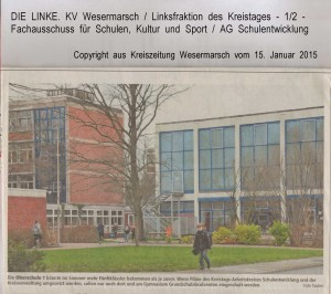 stalozzistraße - Kreiszeitung Wesermarsch vom 15. Januar 2015 - Seite 1  von  2 Seiten